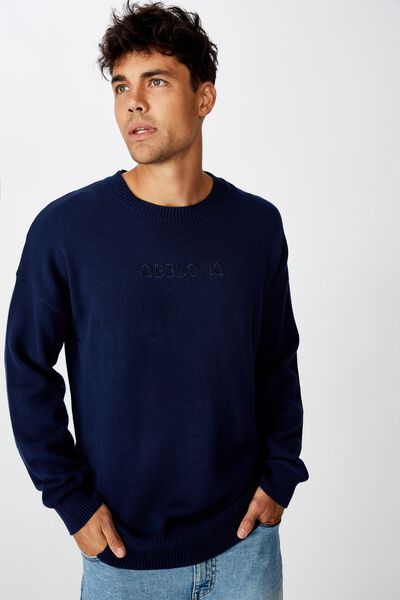 Afl Mens Knitted Jumper, GEELONG