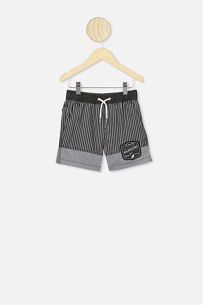Nrl Boys Stripe Board Short, WARRIORS