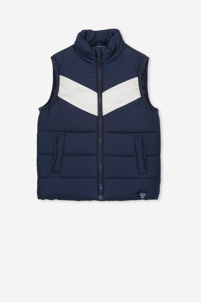 Afl Kids Puffer Vest, GEELONG