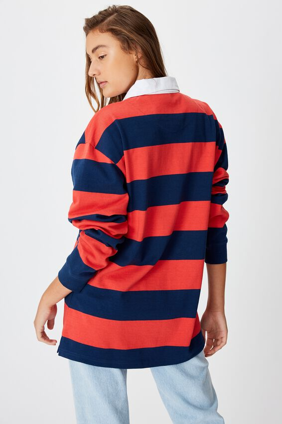 Afl Unisex Old School Rugby Polo, MELBOURNE