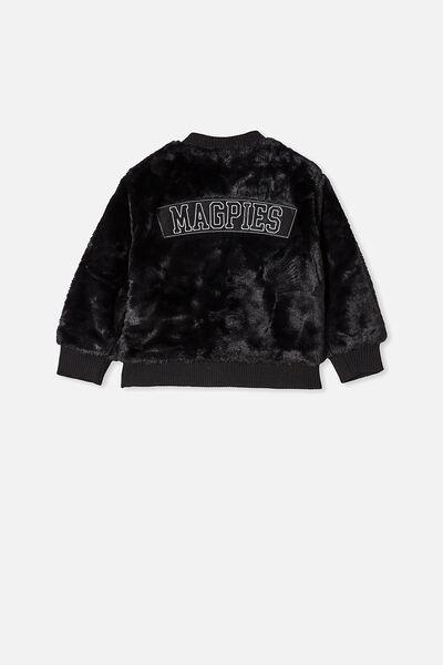 Afl Kids Fur Bomber Jacket, COLLINGWOOD