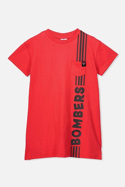 Afl Girls T-Shirt Dress, ESSENDON