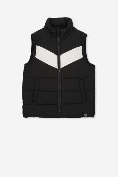 Afl Kids Puffer Vest, COLLINGWOOD