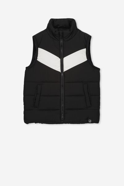 Afl Kids Puffer Vest, COLLINGWOOD