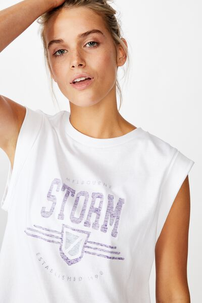 Nrl Womens Graphic Tank Top, STORM