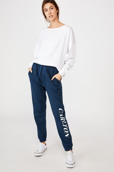 Afl Womens Old School Track Pant, CARLTON