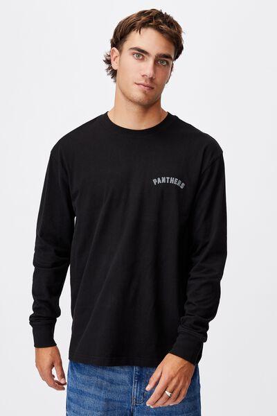 Nrl Mens Number Long Sleeve Top, PANTHERS