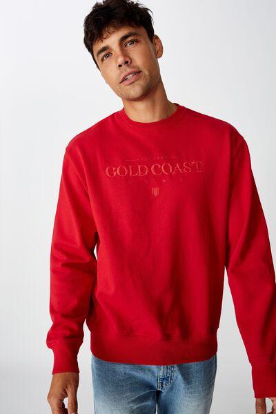 Afl Mens Old School Jumper, GOLD COAST