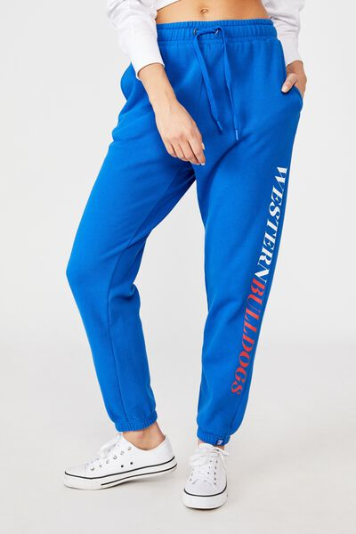 Afl Womens Old School Track Pant, WESTERN BULLDOGS