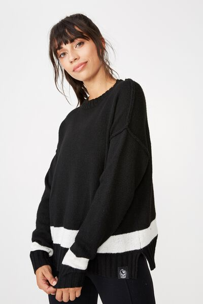 Afl Ladies Knitted Chopped Pullover, COLLINGWOOD