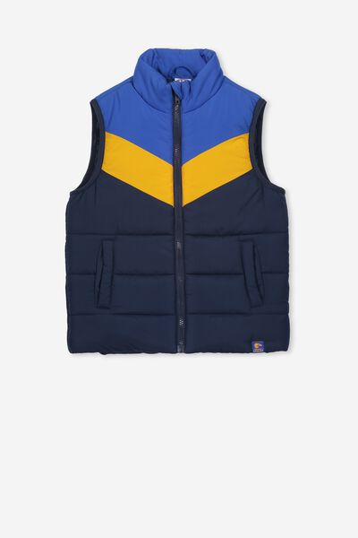 Afl Kids Puffer Vest, WEST COAST EAGLES