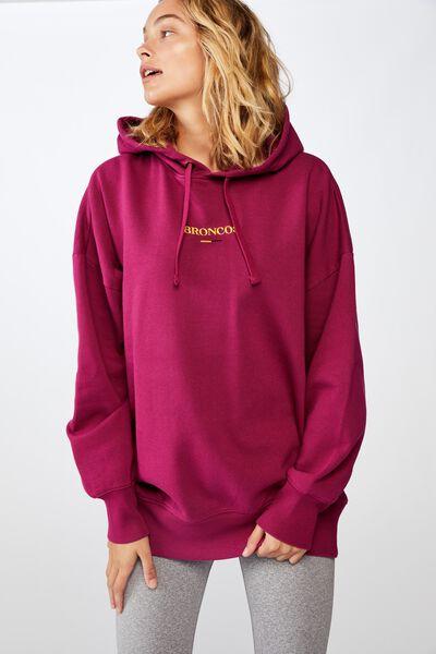 Nrl Womens Embroidered Hoodie, BRONCOS