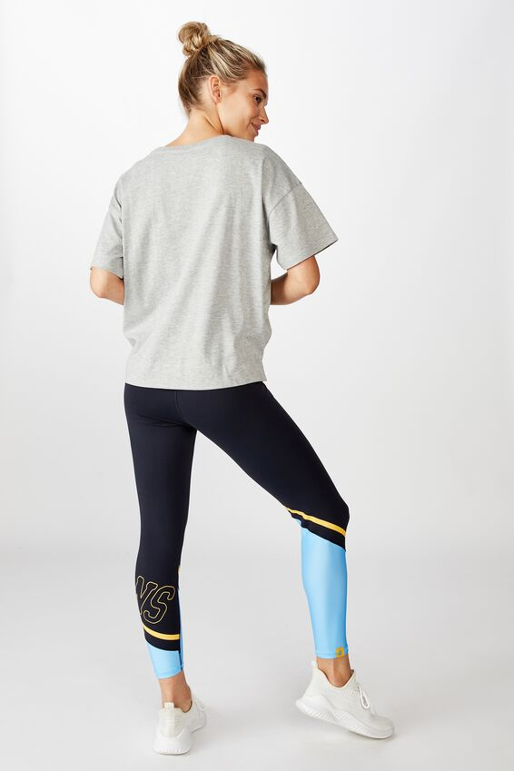Nrl Womens Contrast Panel Leggings, TITANS