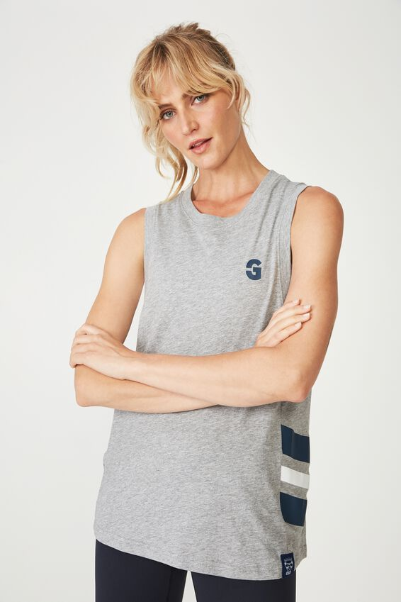 Afl Ladies Active Muscle Tank, GEELONG