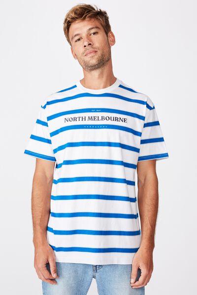 Afl Mens Stripe Logo T-Shirt, NORTH MELBOURNE