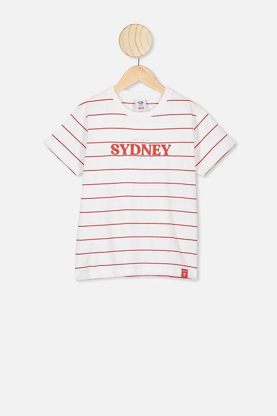 Afl Kids  Stripe Logo T-Shirt, SYDNEY SWANS