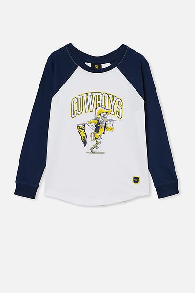 Nrl Kids Raglan Ls Top, COWBOYS