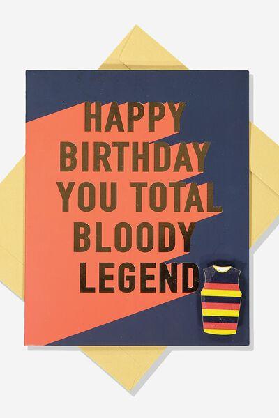 Afl Birthday Card - Legend (Pin), ADELAIDE