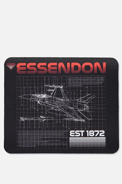 Afl Neoprene Mouse Pad - Canvas, ESSENDON