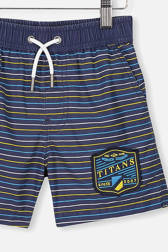 Nrl Boys Stripe Board Short, TITANS