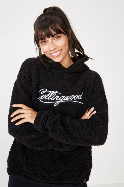 Afl Ladies Teddy Hoody, COLLINGWOOD