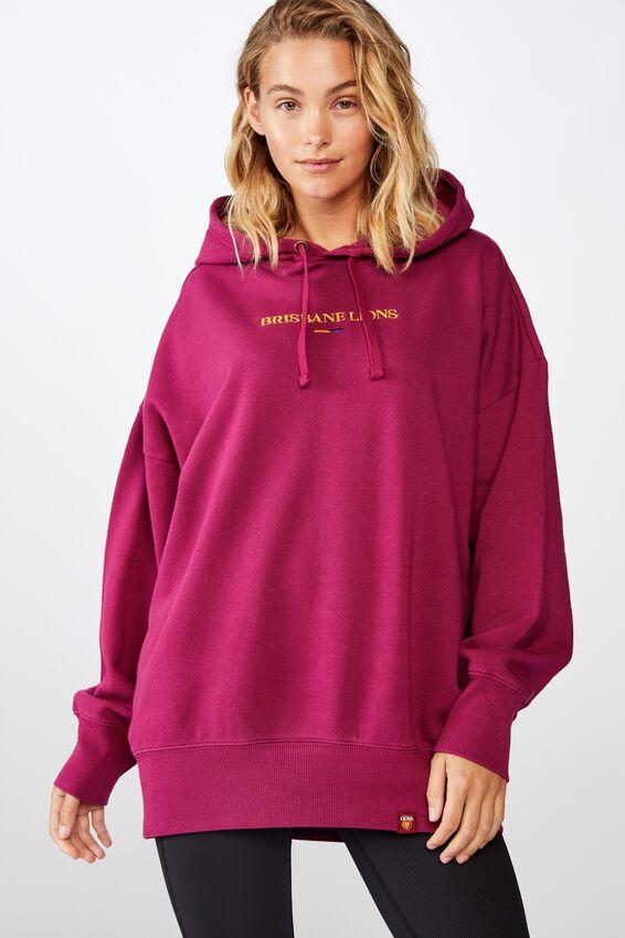 Afl Womens  Embroidered Hoodie, BRISBANE