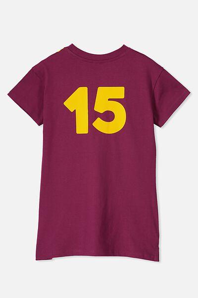 Personalised AFL Girls T-Shirt Dress, BRISBANE