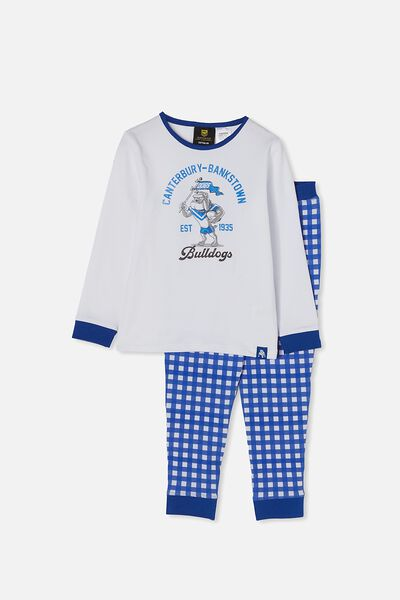 Nrl Kids Mascot Ls Pyjama Set, BULLDOGS
