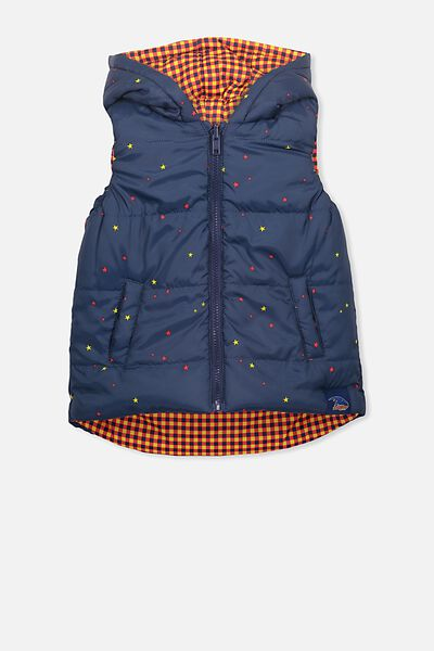 Afl Kids Reversible Puffer Vest, ADELAIDE
