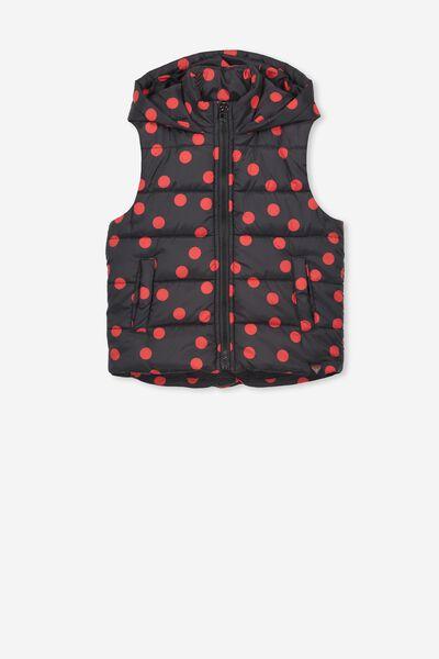 Afl Girls Puffer Vest, ESSENDON