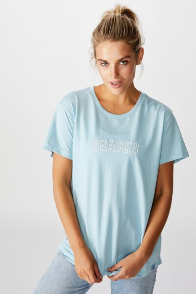 Nrl Womens Graphic T-Shirt, SHARKS