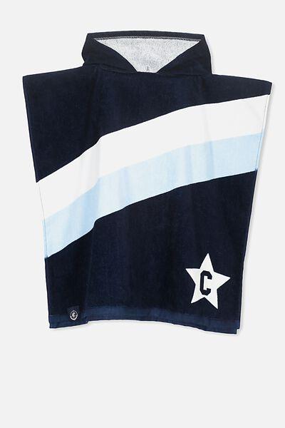 Afl Kids Poncho Towel, CARLTON