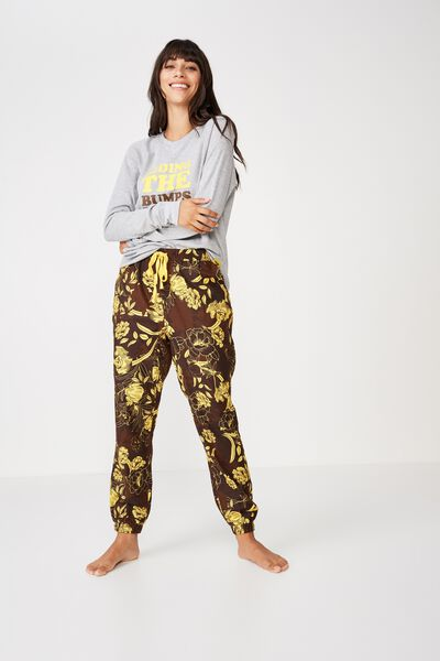 Afl Drop Crotch Flannel Pj Pant, HAWTHORN