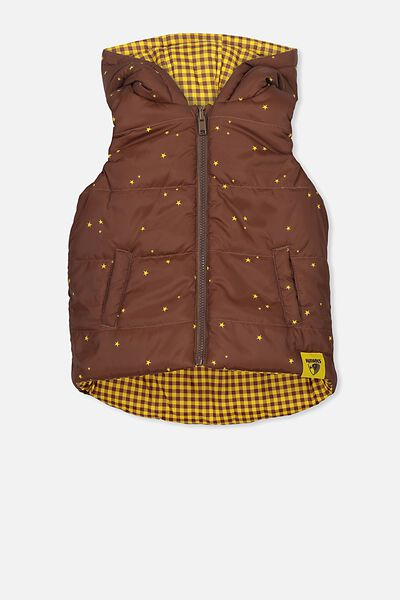 Afl Kids Reversible Puffer Vest, HAWTHORN