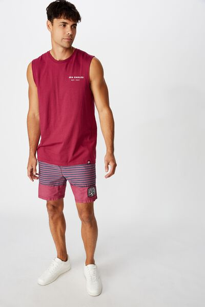 Nrl Mens Stripe Board Short, SEA EAGLES