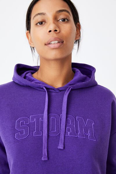 Nrl Womens Embroidered Pocket Hoodie, STORM