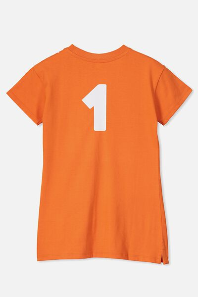 Personalised AFL Girls T-Shirt Dress, GWS