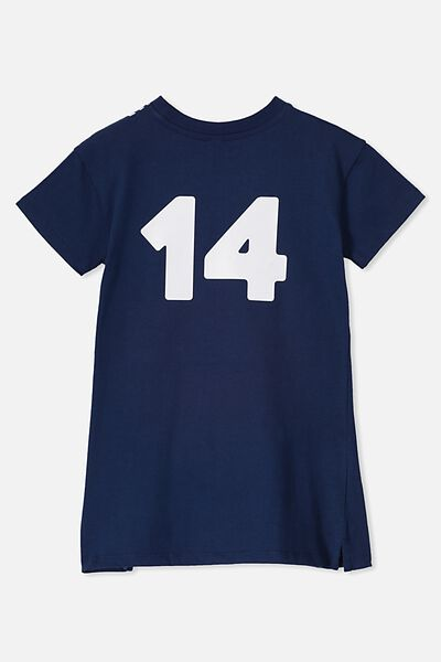 Personalised AFL Girls T-Shirt Dress, GEELONG