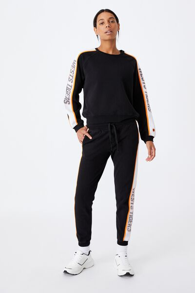 Nrl Womens Colour Block Track Pant, WESTS TIGERS