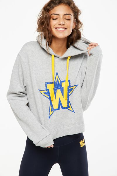Afl Ladies Chopped Hoody, WEST COAST EAGLES