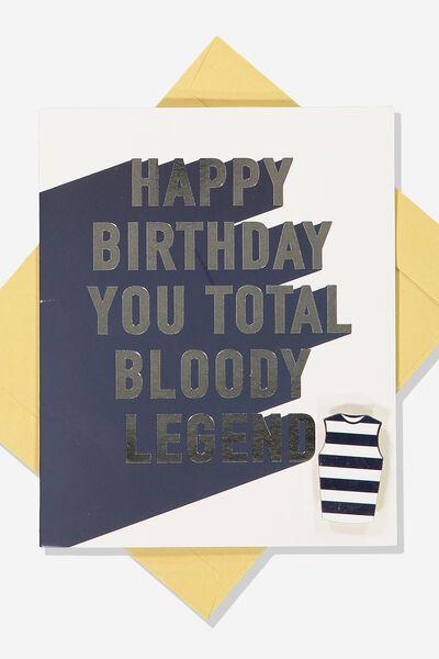 Afl Birthday Card - Legend (Pin), GEELONG