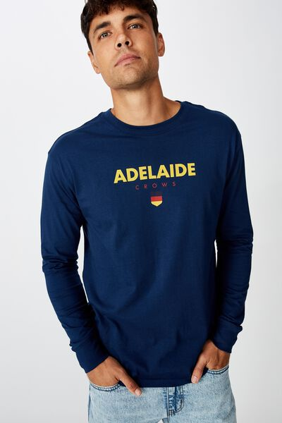 Afl Mens Graphic Long Sleeve, ADELAIDE
