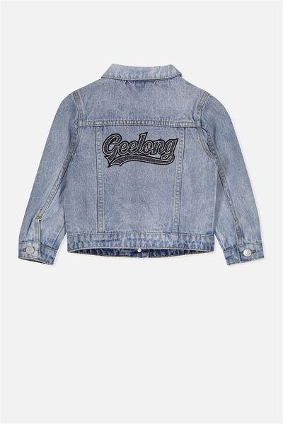 Afl Kids Denim Jacket, GEELONG