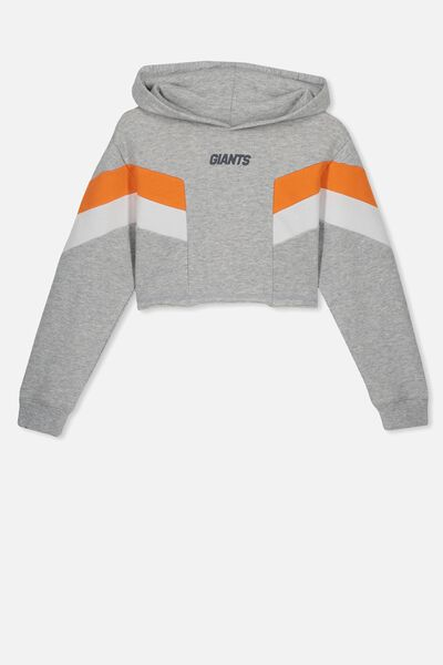 Afl Girls Retro Panel Chopped Hoody, GWS