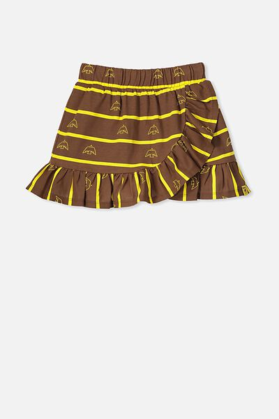Afl Girls Ruffle Skirt, HAWTHORN