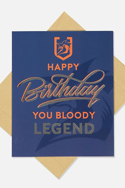Nrl Legend Greeting Card, ROOSTERS