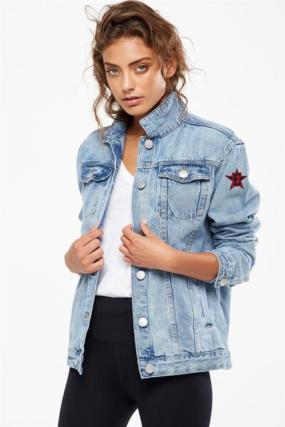 Afl Denim Boyfriend Jacket, ESSENDON