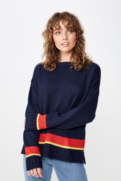 Afl Ladies Knitted Chopped Pullover, ADELAIDE
