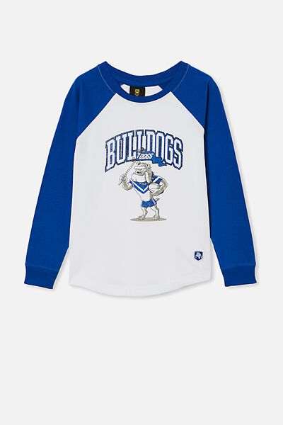 Nrl Kids Raglan Ls Top, BULLDOGS