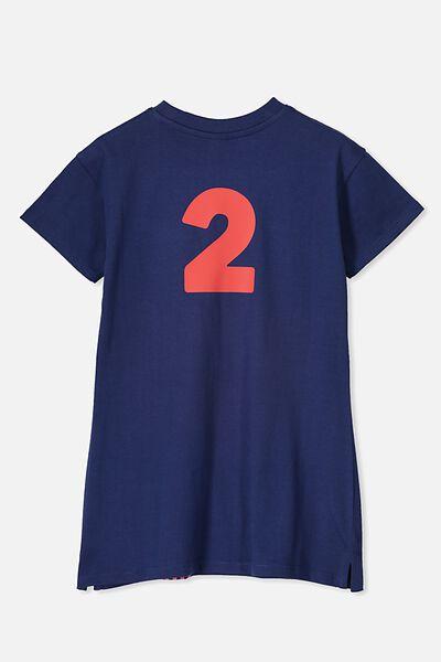Personalised AFL Girls T-Shirt Dress, MELBOURNE